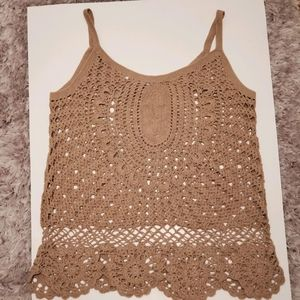 Newport News Beige Knit Top, Size XL